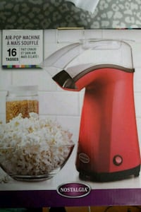 Nostalgia APH200RED 16-Cup Air-Pop Popcorn Maker Silver Spring, 20906