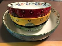 New- 4 floral ceramic bowl (never used) Calgary, T2A 4H7