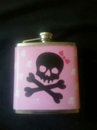 pink and black skull printed liquor flask Calgary, T2S 2R2