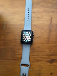 black Apple Watch with white sports band Glendale, 91205