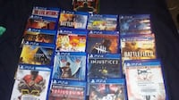 assorted Sony PS4 game cases SASKATOON