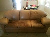 brown leather 3-seat sofa Avondale, 85392