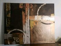 brown and white abstract painting Hudson, 34667