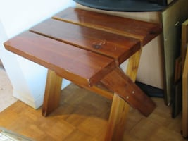 Wooden side table: 24x18x19""