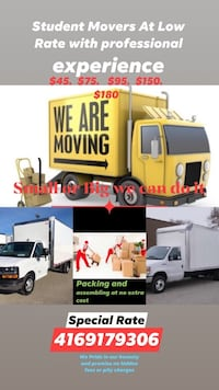 Movers/ Moving company for low rates and honest work Toronto