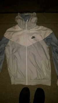 white and gray Nike zip-up jacket Surrey, V3T 4Z6