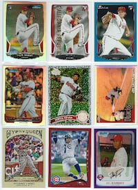 (35) LOS ANGELES ANGELS Topps Bow Chrome REFRACTOR Las Vegas