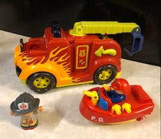 Little People Fireman Figure with Fire Truck and Boat - SW OKC PICK UP