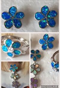 Lab Created Blue Opal and CZ Henderson, 89052