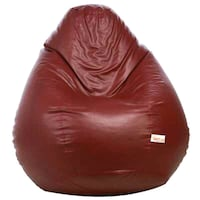 red and brown bean bag
