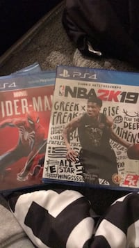 Spider man and 2k19 ps4 brand new  Richmond, 94806