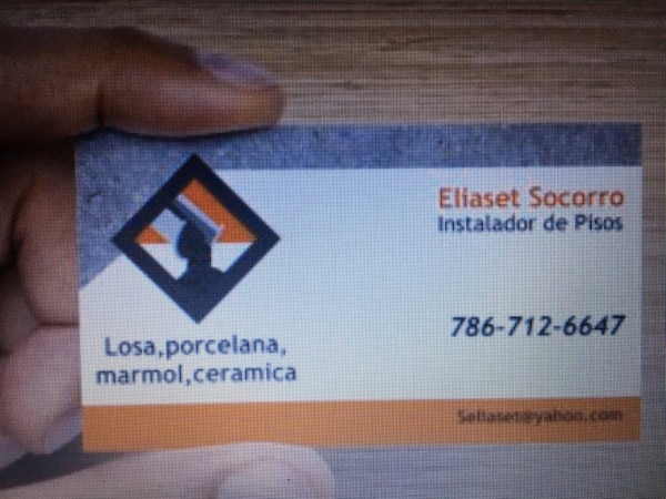 Used eliaset socorro business card for sale in hialeah letgo eliaset socorro business card reheart Choice Image