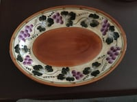 white and pink floral ceramic plate Frederick, 21703