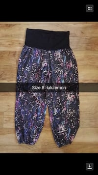 black and purple floral pants Calgary, T3K 3Y3