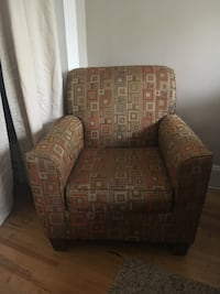 brown and gray fabric sofa chair Richmond, 23221