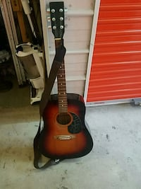 red and black acoustic guitar Hampton, 23663