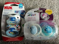 Brand new unopened pacifiers (Nuk and Avent) Toronto, M5J 2Y4
