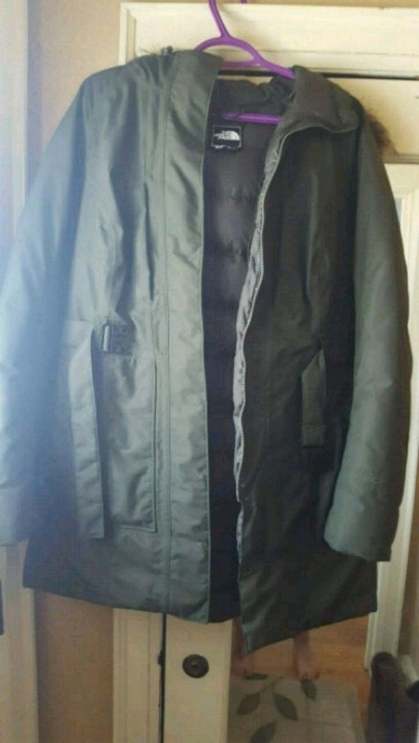 Olive green Northface winter jacket