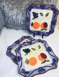 Medici Hand Painted Dinner Plates  Providence, 02907