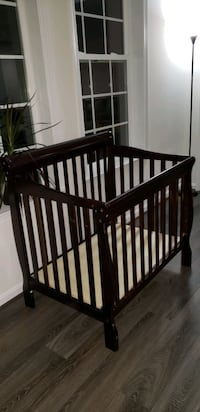baby's brown wooden crib Upper Marlboro, 20772