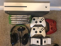 white Xbox One console with controllers and game cases Phoenix, 85041