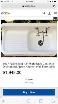 White ceramic farm sink with stainless steel faucet screenshot Branford, 06405