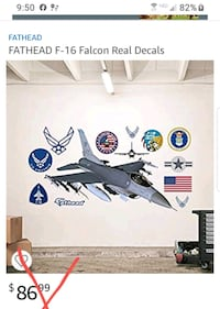 New!!! Fathead Airforce F16 Wall  Decal Minneapolis, 55428
