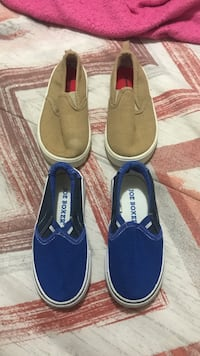Two assorted pairs of brown and blue slip-on shoes Honolulu, 96819