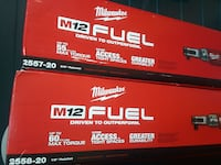 two Milwaukee M12 Fuel boxes
