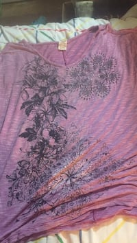 pink and black floral textile