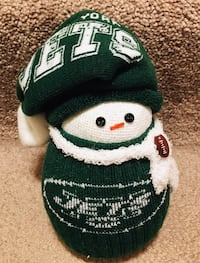 green and white knit cap Victor, 14564