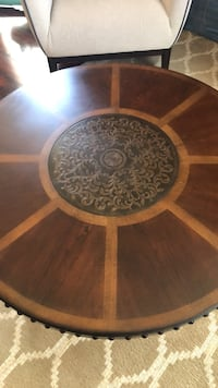 round brown wooden table with two chairs Pittsburg, 94565