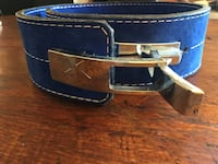 Blue leather lifting belt- brand new