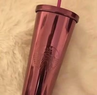 Starbucks Berry Pink Stainless Steel Venti Cold Cup Tumbler 24 Oz Ancaster, L9G 4R3