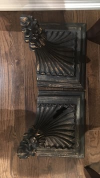 Two black wooden scalloped shelves Brampton, L6X 3B1