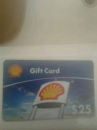 US Shell gift card $25.00