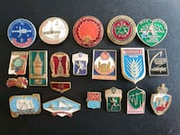 Collection of 20 USSR/Russian Cold War Era Pins  Calgary, T2R 0S8