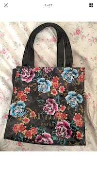 black, pink, and blue floral tote bag Sittingbourne, ME9