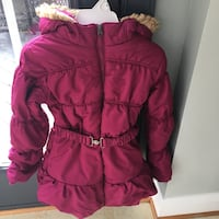 Girls size 10/12 raspberry coat 20 km
