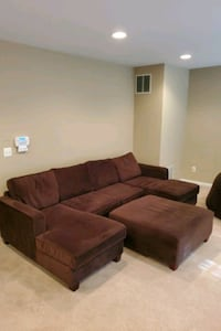 Custom  Couch - Belfort double chaise sectional with oversized ottoman Stone Ridge, 20105