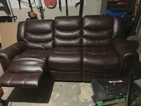 Leather reclining couch 487 mi