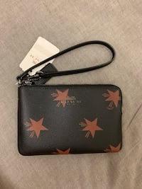 Black and red Coach leather wristlet Sheung Wan