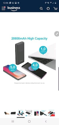 20000 PD and QC 3.0 Quick Charge Portable Charger NEW 1/2 PRICE