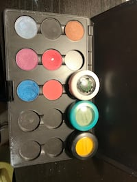 Mac eyeshadows and case /limited edition pots