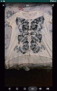 white and black floral crew-neck shirt Barbourville, 40906