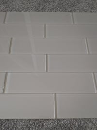 "17 3"" by 12"" Grey/Brown Glass Wall Tile LONDON"