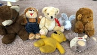 Beautiful fluffy Stuffed  animals: bears, monkey and Bonnie   Price ranges from $.50 to two dollars. You could have all seven of them for only $5 Norfolk, 23523