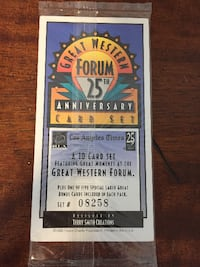 Great Western Forum 25th Anniversary Card Set