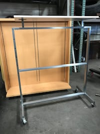 Double Sided Retail Clothing Rack Display/Fixture