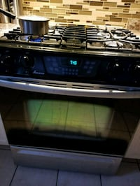 black and gray gas range oven Brampton, L7A 2V5